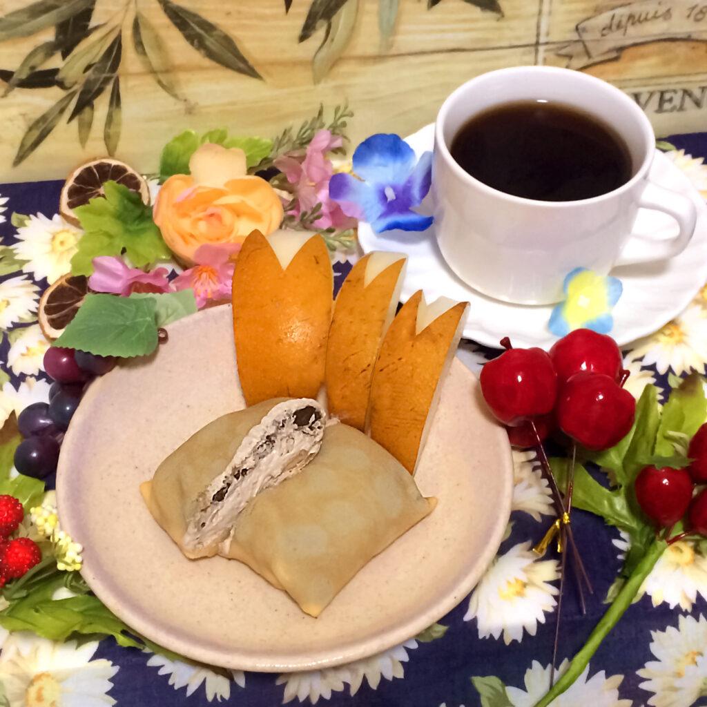 セブン伊藤久右衛門監修ほうじ茶クレープの実食